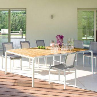 outdoorTeak or Corian Outdoor Dining Tabledining-table Teak & Corian