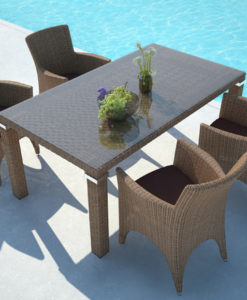 love and precision intertwine to make this beautiful wicker dining table. A work of art crafted for fine dining.
