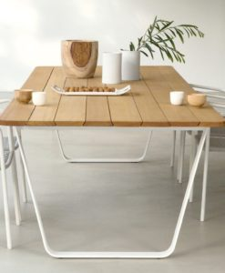 manutti air dining table collection teak or ceramic