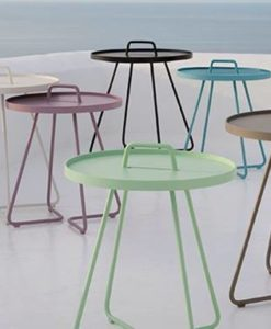 Lightweight, stylish and colorful, you'll want to take this carry side table with you everywhere you go. Table top is also a removable serving tray.