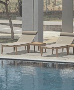 Keep your necessities close by and at arms reach with this amazing square teak side table. It is the perfect accessory to outdoor lounging.