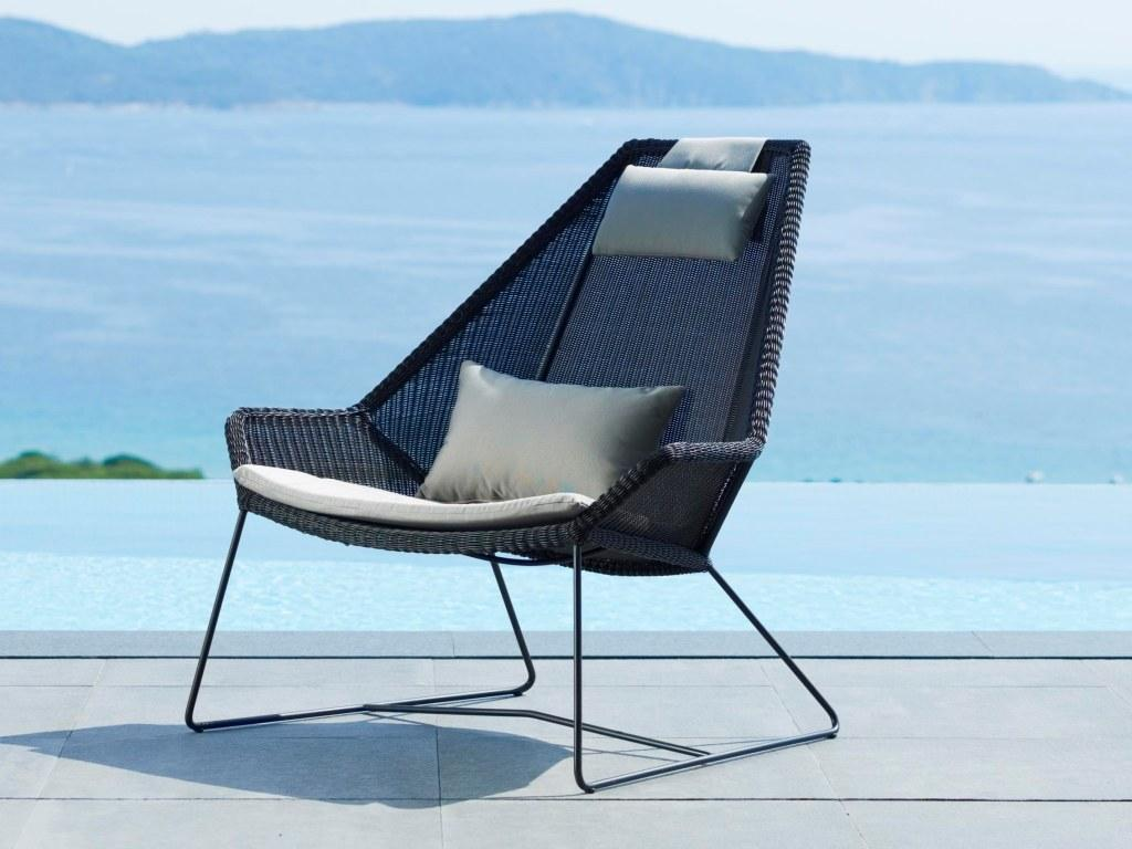 Breza High Back Club Chair Couture Outdoor