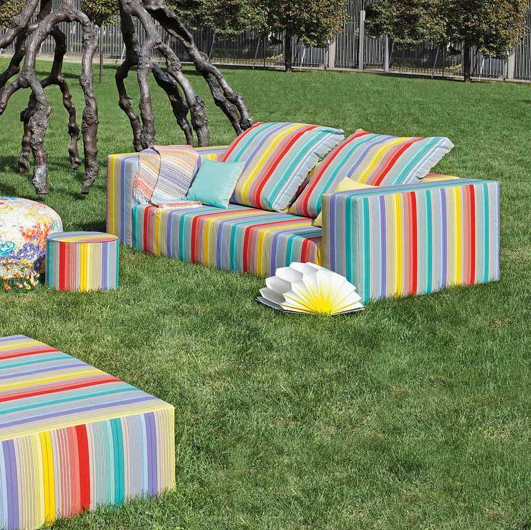 Missoni Home 3 Seat Sofa Gravita: Missoni Outdoor 2 Seater Sofa