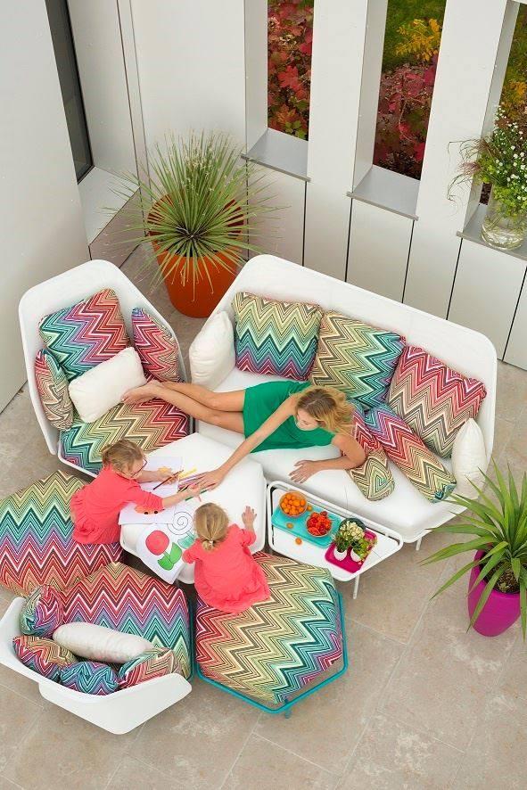 Alice Ego Paris Modern Luxury Hight Back Modular Sectional Sofa Missoni