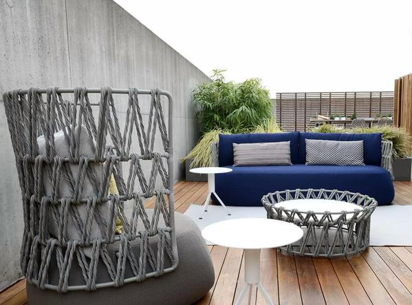 B b italia fat 3 seater sofa couture outdoor for B and b italia outdoor
