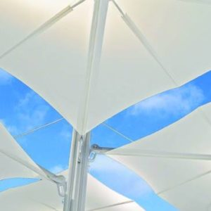 This adjustable tilt umbrella with duel canopies, is the perfect match for you if you are looking for comfort in shade.