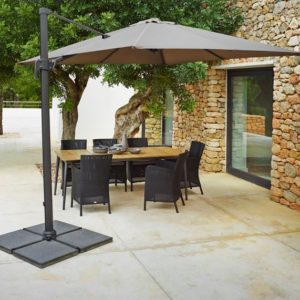 Sleek, sophisticated and easy to use. This umbrella is a beauty with bold modern lines. Multi positions means multiple possibilities on how you can have your shade and comfort.