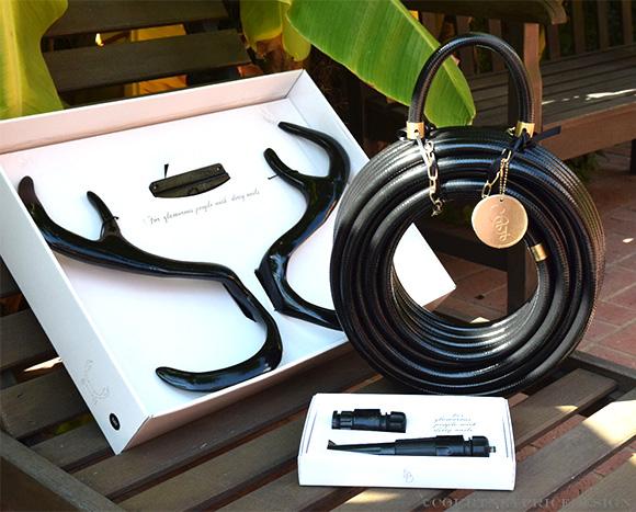 Black Modern Garden Hose · 5201c_Garden_Hose_Black_Couture_Outdoor