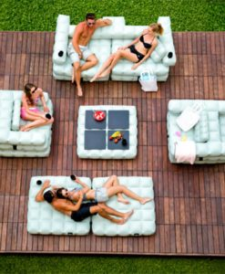 inflatable floating sofa pool furniture