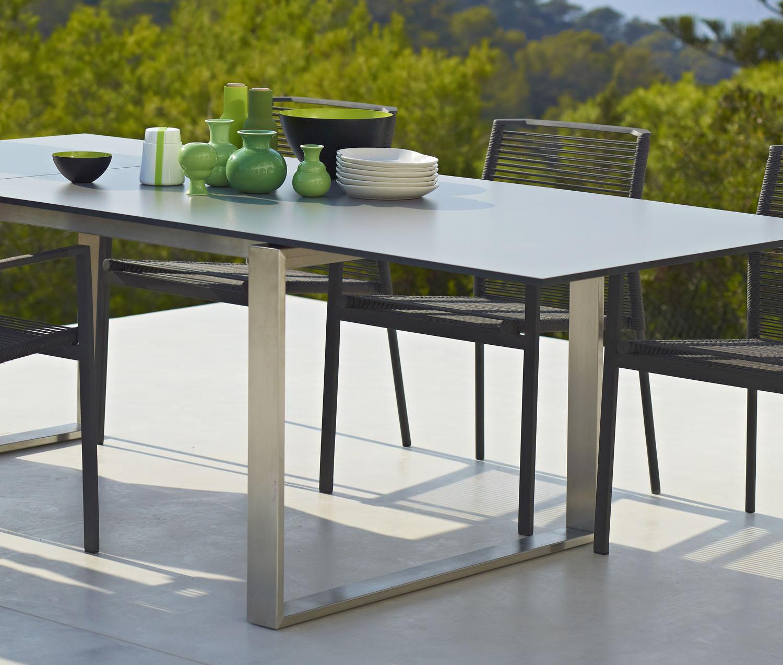 Cane Line Garden Furniture Edge extendable dining table couture outdoor edge dining table cane lineg workwithnaturefo