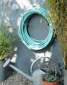 turquoise blue garden hose