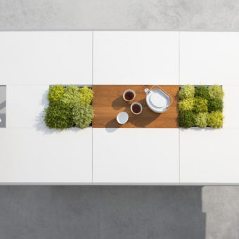 modular champagne dining table