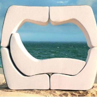 Curves Puzzle Modular Multi-function Stacking Chaise Lounger