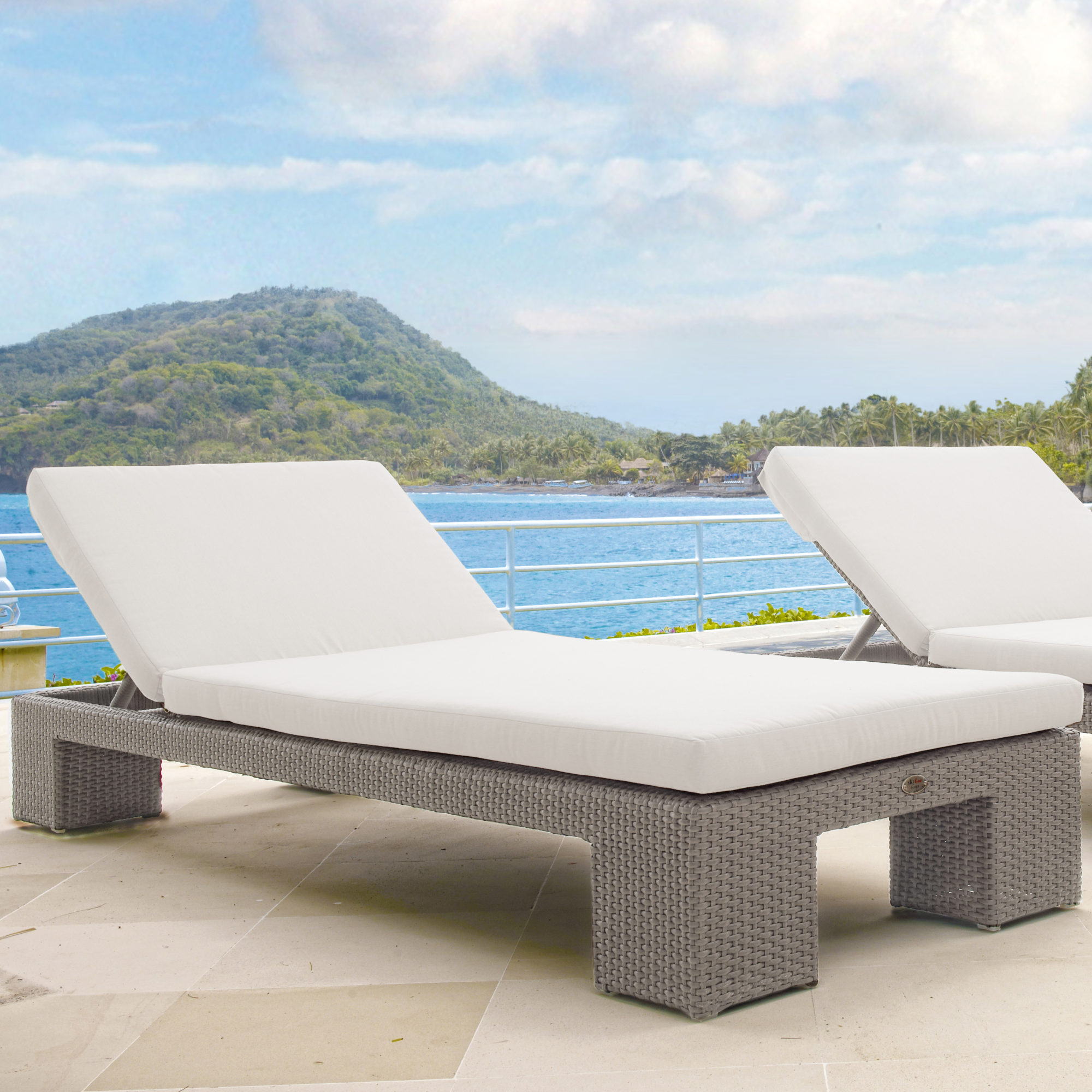 Skyline pacific double chaise lounger couture outdoor for Chaise 5013