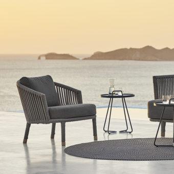 Hand Woven Modern Cane Line Club Chair; Cobo_Club_Chair