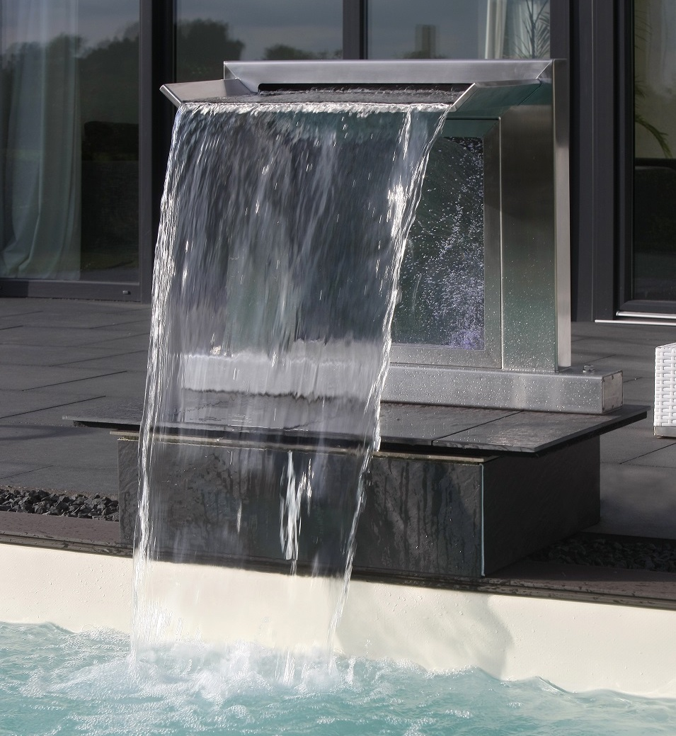 Pool fountain led stainless steel couture outdoor for Garden pool fountains