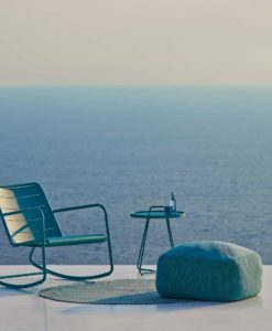 cane-line rocking chair all-weather, powder-coated aluminium. Aqua Finish