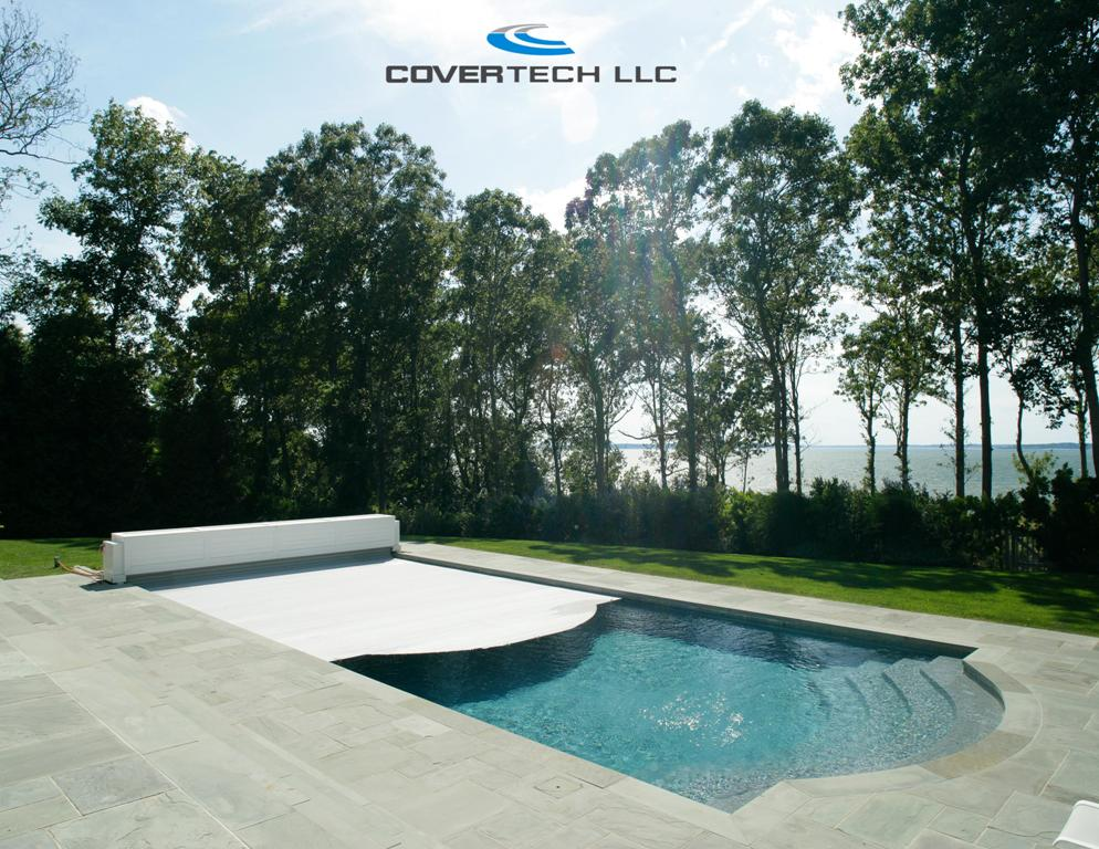 Automatic pool cover for existing pool couture outdoor for Garden pool covers