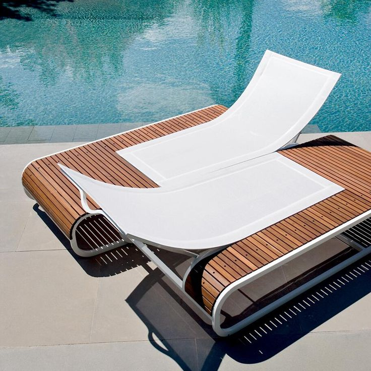 Amore Luxury Teak Amp Corian Chaise Lounger Couture Outdoor