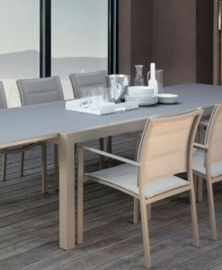 August modern glass extendable dining collection