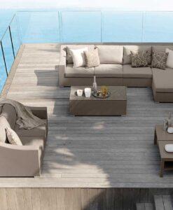 Modern Luxury Textilene Aluminum Sectional Modular Sofa