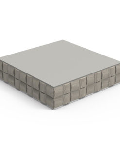 The baron is a bold square coffee table, With a unique style.