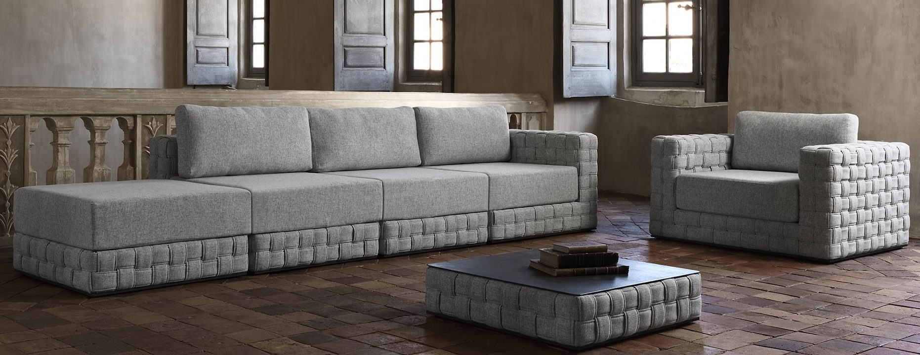 baron sectional modular sofa couture outdoor. Black Bedroom Furniture Sets. Home Design Ideas