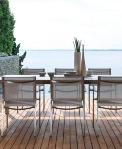 Baron stainless steel dining collection hamptons