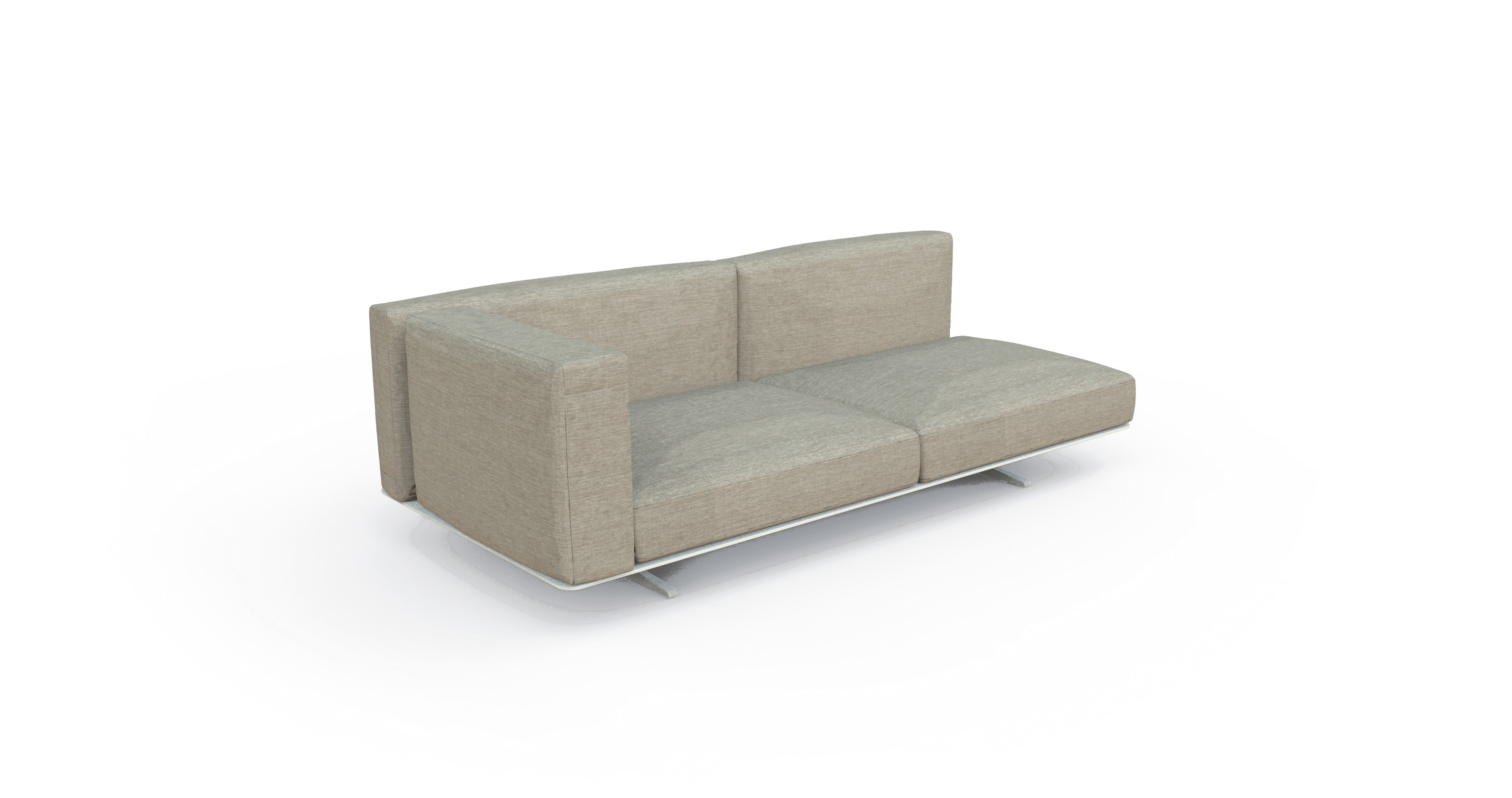 Zambrose 2 seater sofa couture outdoor for 2 seater chaise sofa for sale