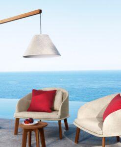 Apropos teak or aluminum modern club chair