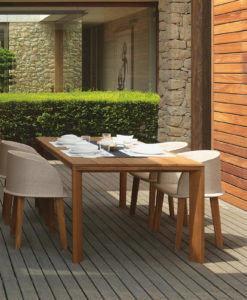 apropos teak dining collection