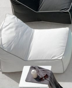 Outdoor Beanbag Black White