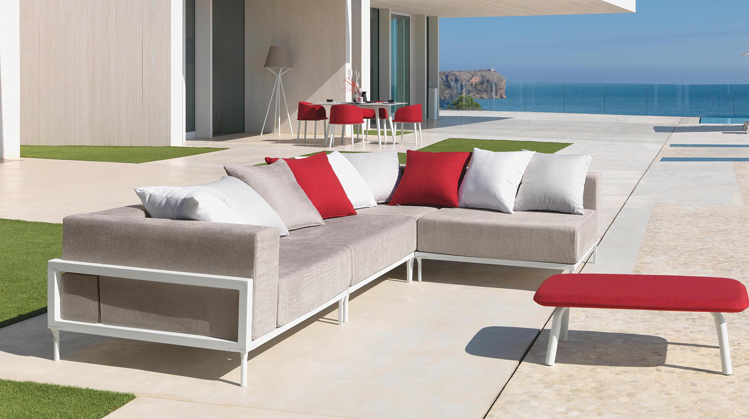 totally apropos sofa modular aluminum couture outdoor
