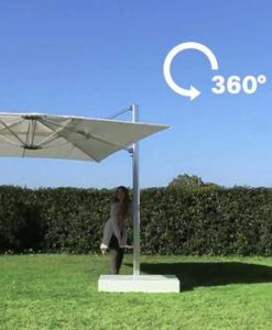 Tilting Umbrella Is perfect for having shade and any position all day long because it is also has 360 rotation.
