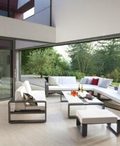 Modular 3 seater three seater sofa multi position outdoor luxury european living design Ego Paris