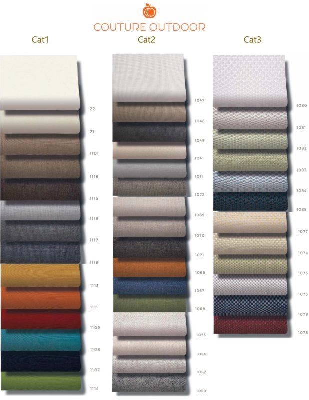 aaron teak modern sunbrella fabrics options