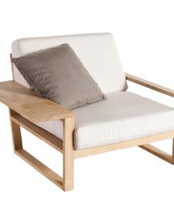 lin teak contemporary club chair