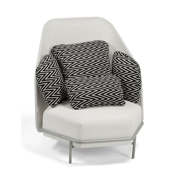 Alice Missoni Black White High Back Outdoor Club Chair