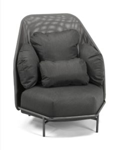 Alice club chair black high back modern luxury