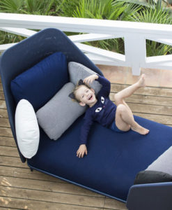 Alice daybed chaise blue