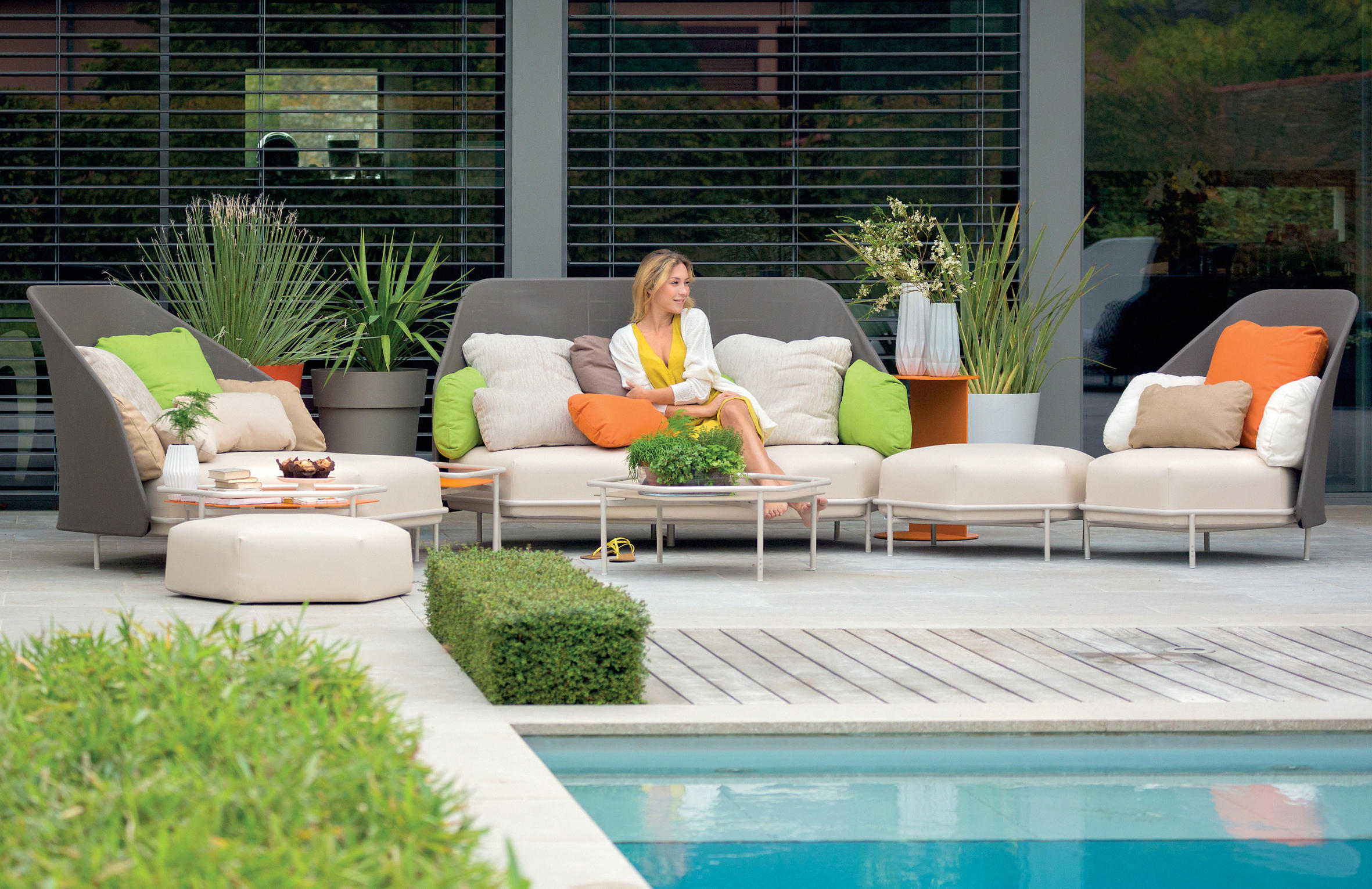 Alice High Back Sectional Modular Collection Couture Outdoor