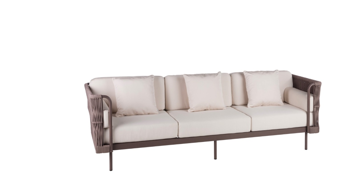 Rope 3 seater sofa couture outdoor for 3 seater sofa