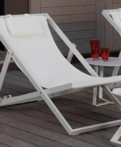 August Beach Deck Chairs white fol