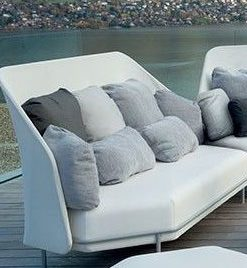 Alice High Back 3 Seater Sofa luxury White