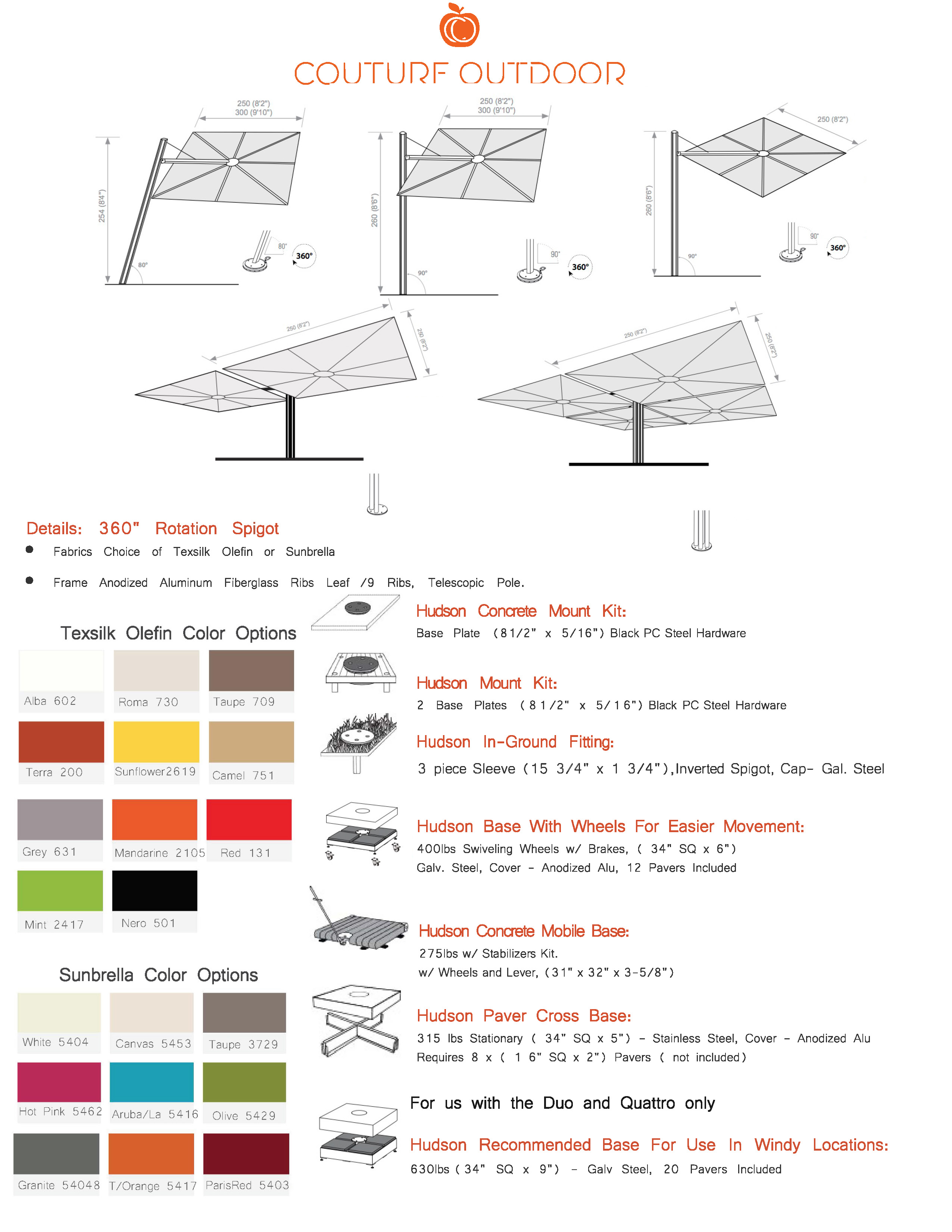 Hudson Umbrella Details