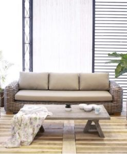 Aloha Be 3 Seater Sofa Wicker Modern Contract Furniture
