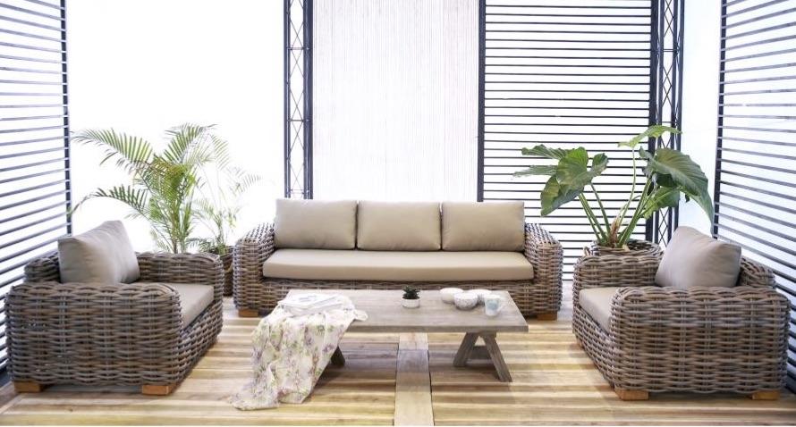 Attirant Aloha Be 3 Seater Sofa Wicker Modern Contract Furniture