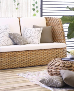 Emilia Aloha Sofa Wicker Modern Design Sunbrella
