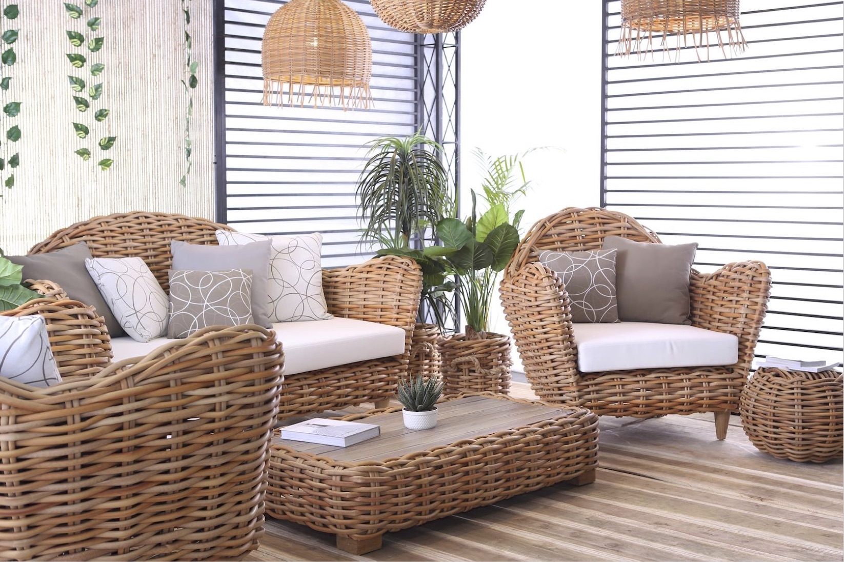 Ami Aloha Club Chair Wicker Sofa Outdoor Furniture Hotels Sunbrella Wicker