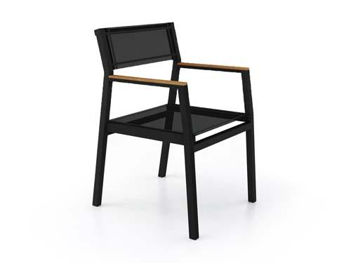 Bermuda modern teak white black aluminum luxury outdoor furniture